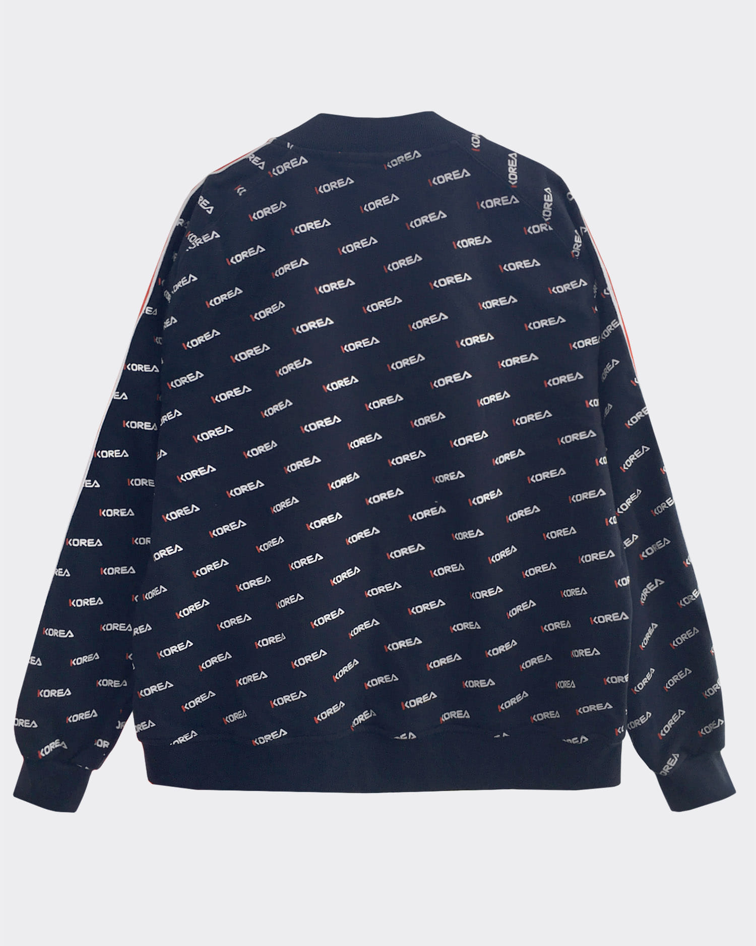 코리아 패턴 자켓 Korea pattern bomber jacket (Navy)