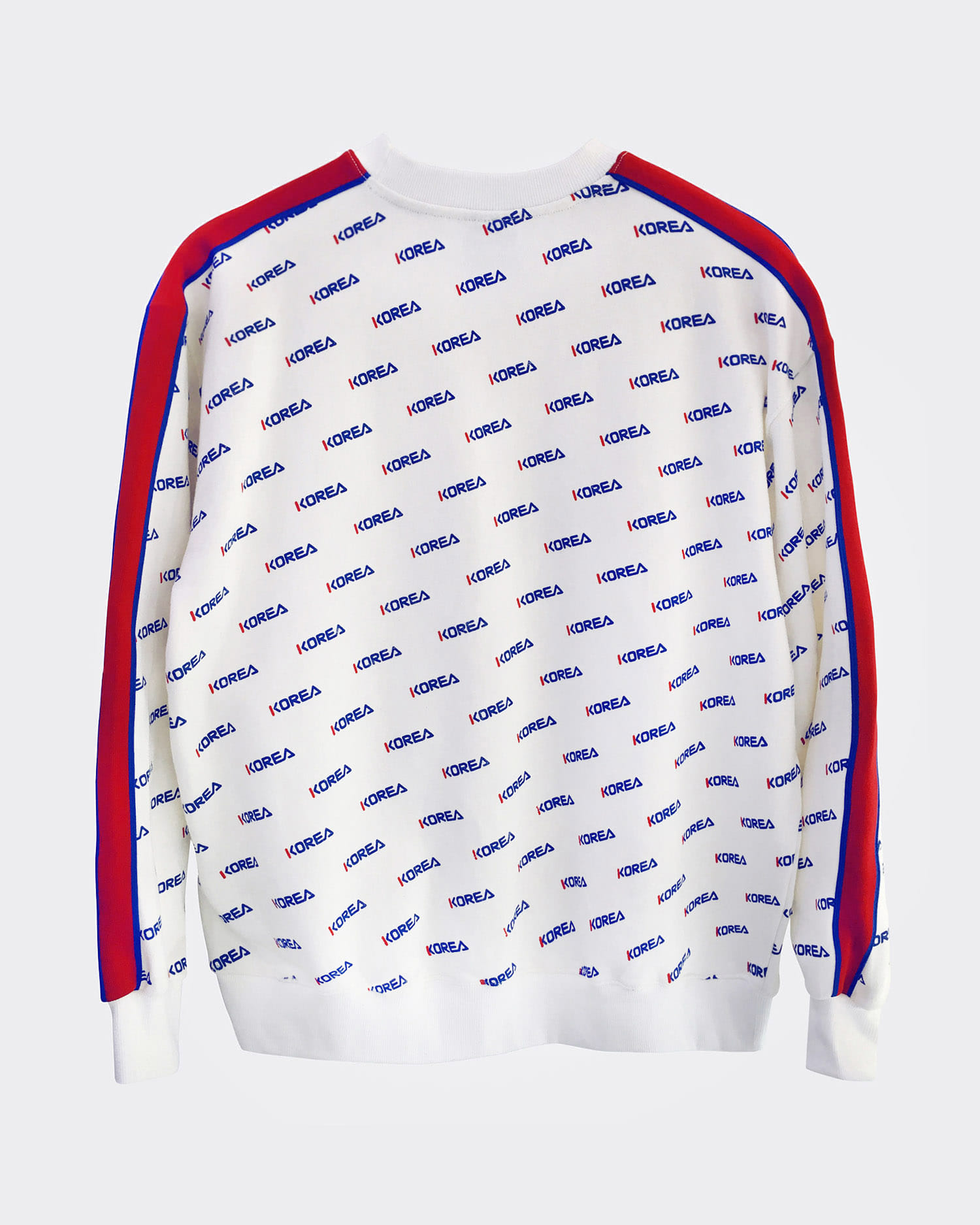 코리아 패턴 맨투맨 Korea pattern sweatshirt (White)