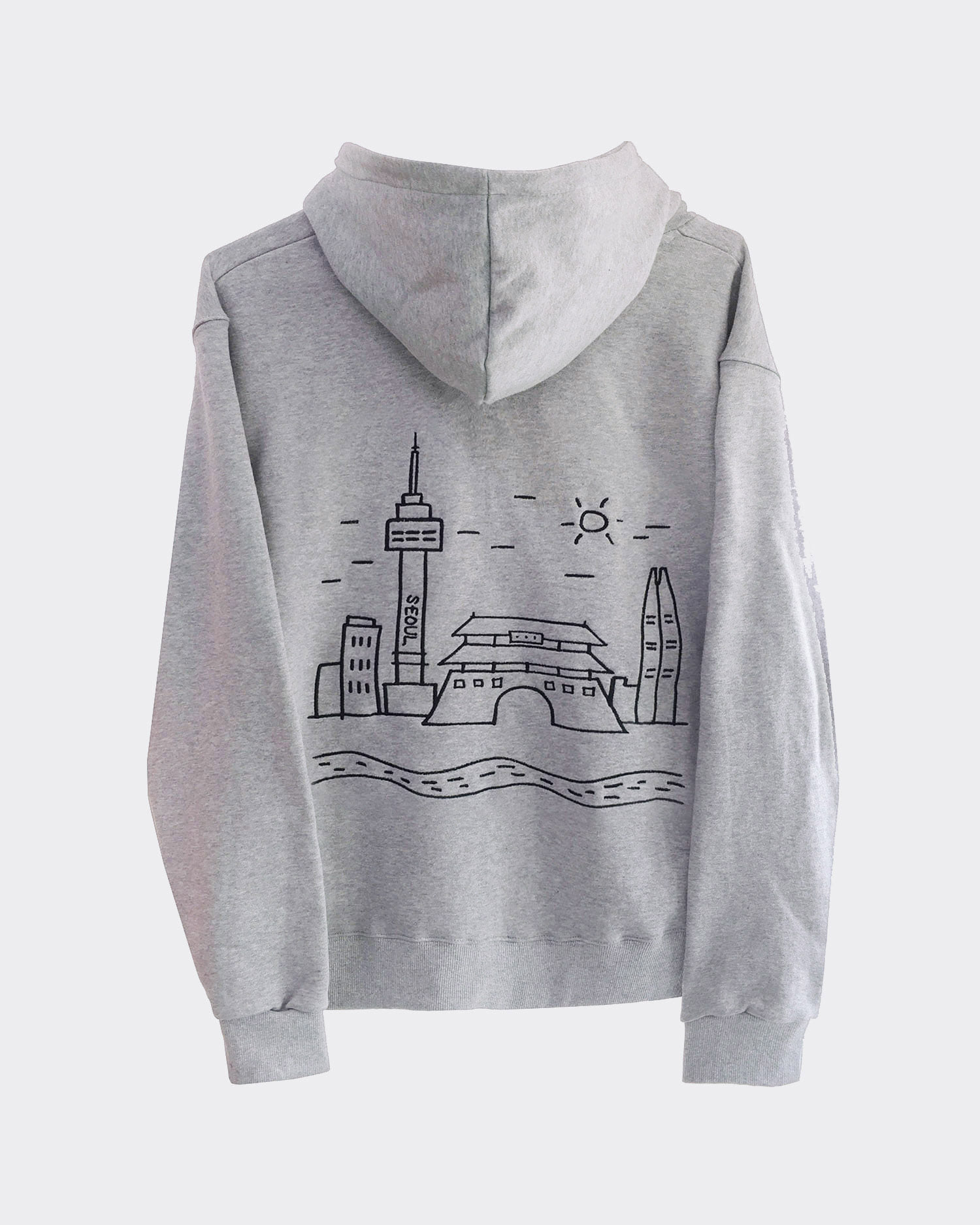 도시 후드집업-서울 City hood zip-up-Seoul (Gray)