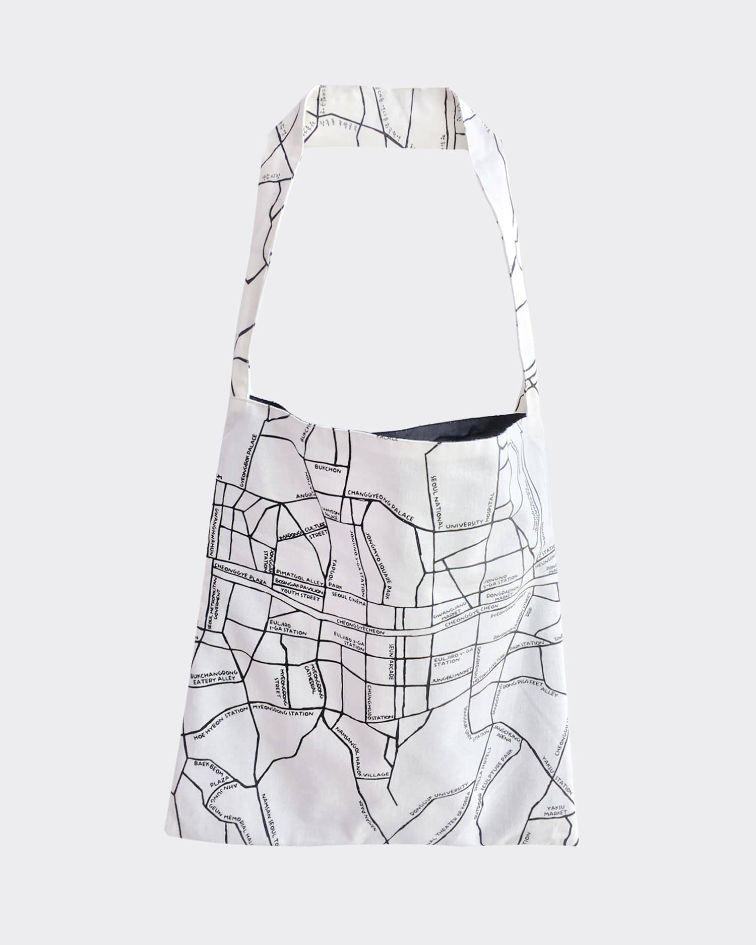 서울지도 에코백 Seoul map ecobag (White)